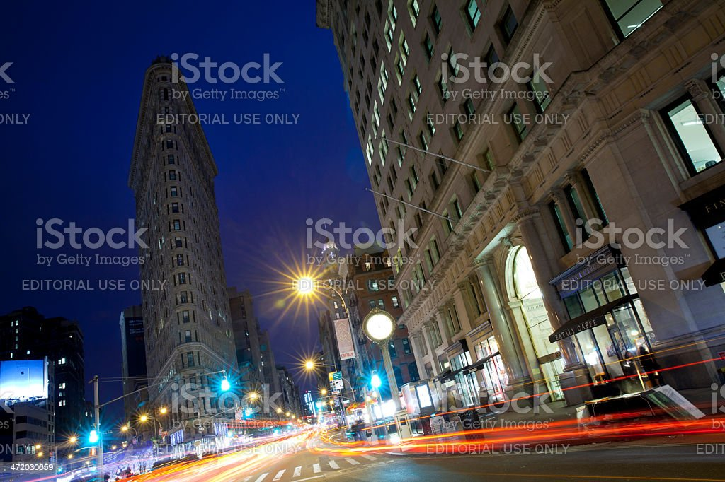 Flatiron building in New York City stock photo