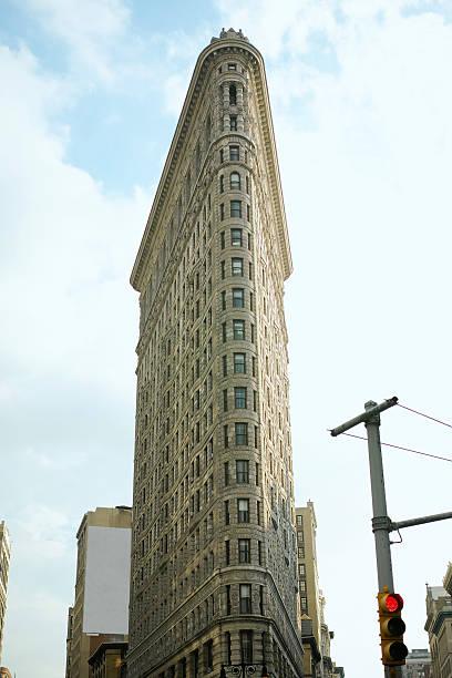 Flatiron Building In Sunny Day stock photo