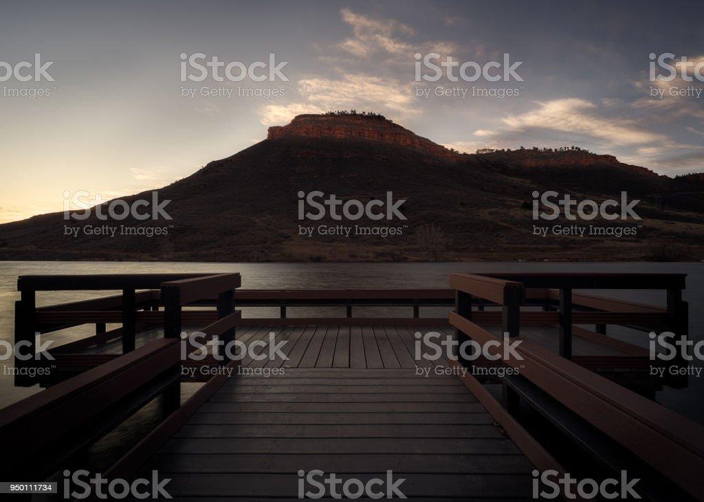 Flatiron Reservoir stock photo