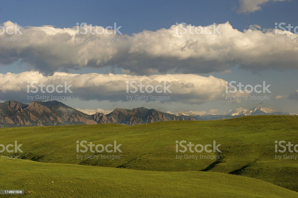 Flatirons and Hills royalty-free stock photo