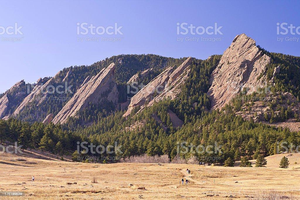Flatirons - Boulder Colorado royalty-free stock photo