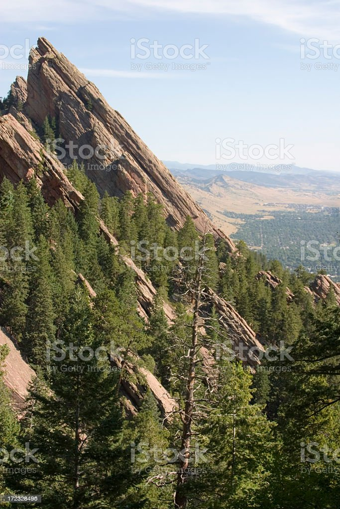 Flatirons from the Top royalty-free stock photo