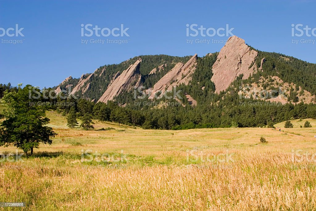 Flatirons in the Distance royalty-free stock photo