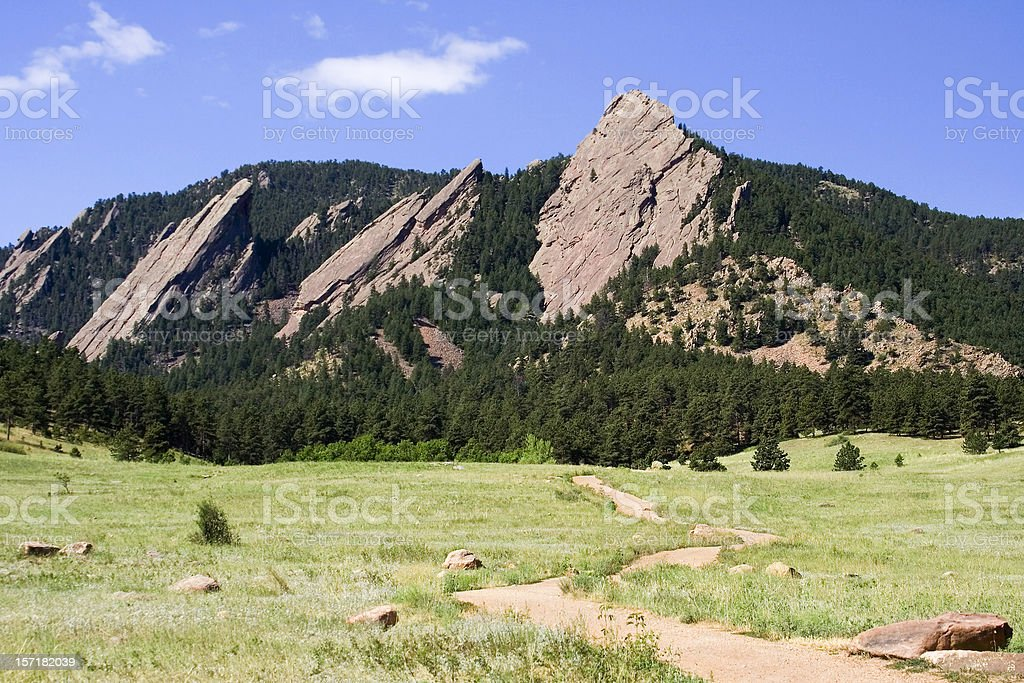 Flatirons in the Foothills stock photo