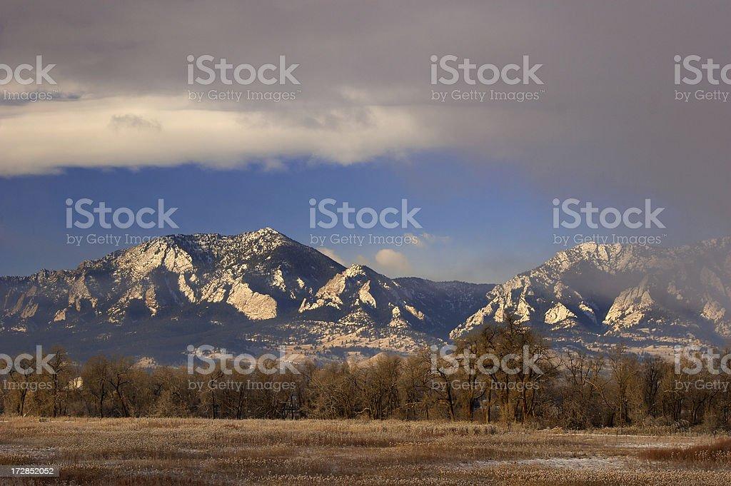 Flatirons in Winter royalty-free stock photo