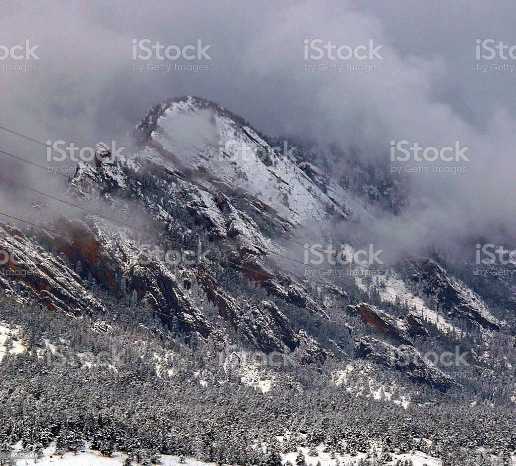 Flatirons of Boulder, Colorado stock photo