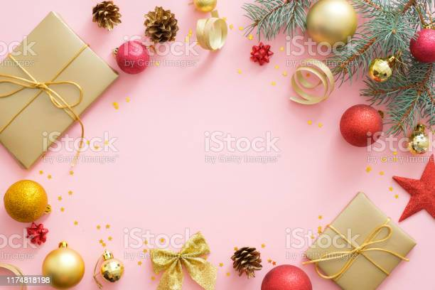 Flatlay christmas holidays composition on pastel pink background with picture id1174818198?b=1&k=6&m=1174818198&s=612x612&h=bju6lamfwwjpokfi7ttzul3e1gdinvf62qpzekpomkq=