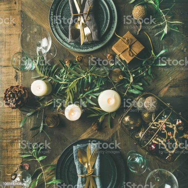 Flatlay of christmas or new years celebration party table setting picture id1065493408?b=1&k=6&m=1065493408&s=612x612&h=evj l2emxfzh8kmue9fmtdcquwtacnksvbb8tcwajci=