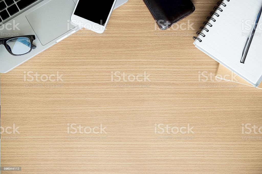 flatlay of office equipment. royalty-free stock photo