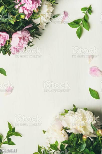 Flatlay of peony flowers over white background copy space picture id915271478?b=1&k=6&m=915271478&s=612x612&h=3tkoqjiikobg8brmpoznno1myf6hjjpvlwu95ozr27q=