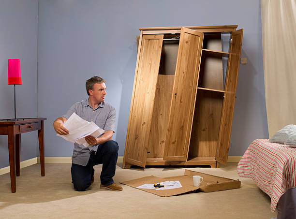 flatpack furniture - diy fail stock pictures, royalty-free photos & images