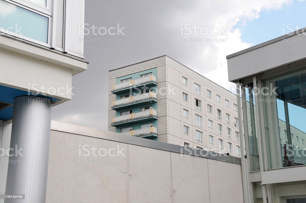 Flats (appartment buildings) in former East Berlin royalty-free stock photo