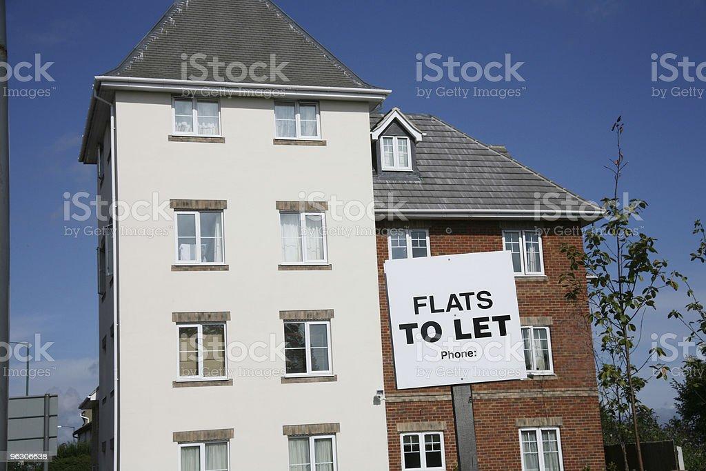 Flats To Let horizontal stock photo