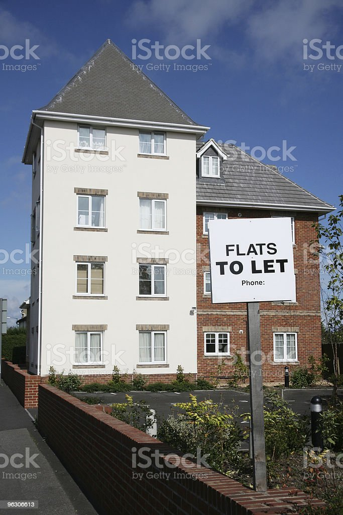 Flats To Let royalty-free stock photo