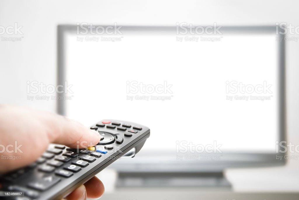 Flatscreen TV stock photo