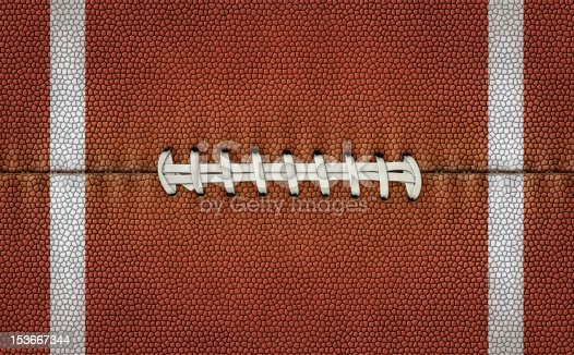 istock Flattened Football Stripes and Laces 153667344