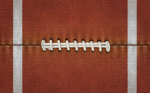 Flattened Football Stripes and Laces
