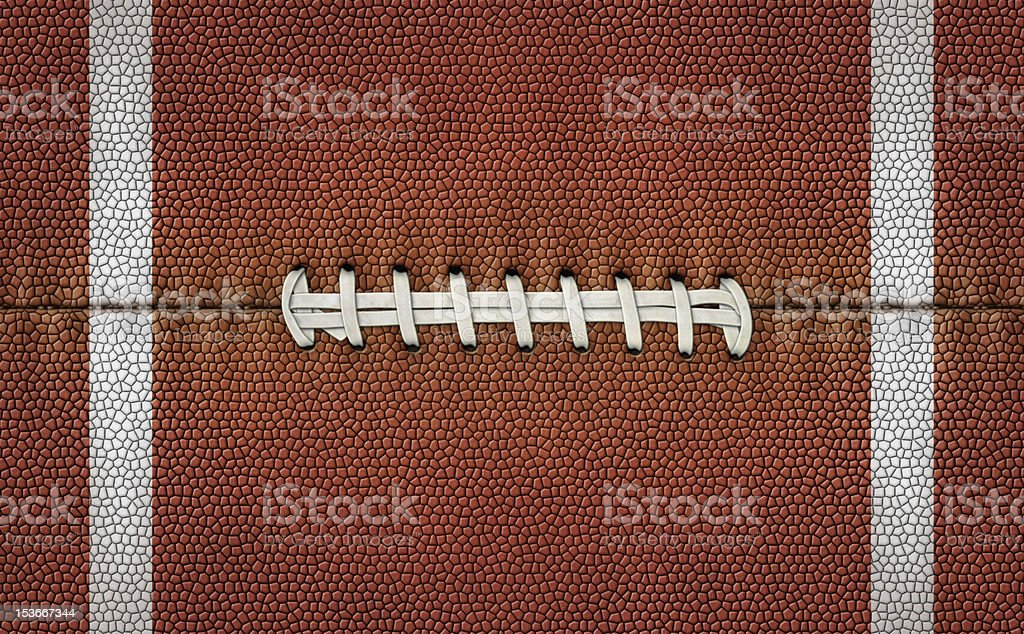 Flattened Football Stripes and Laces stock photo