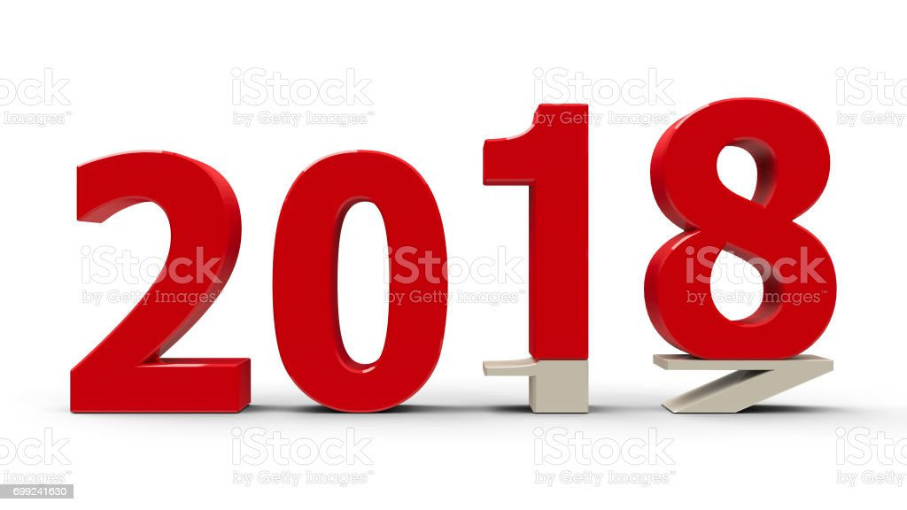 2017-2018 flattened #2 stock photo