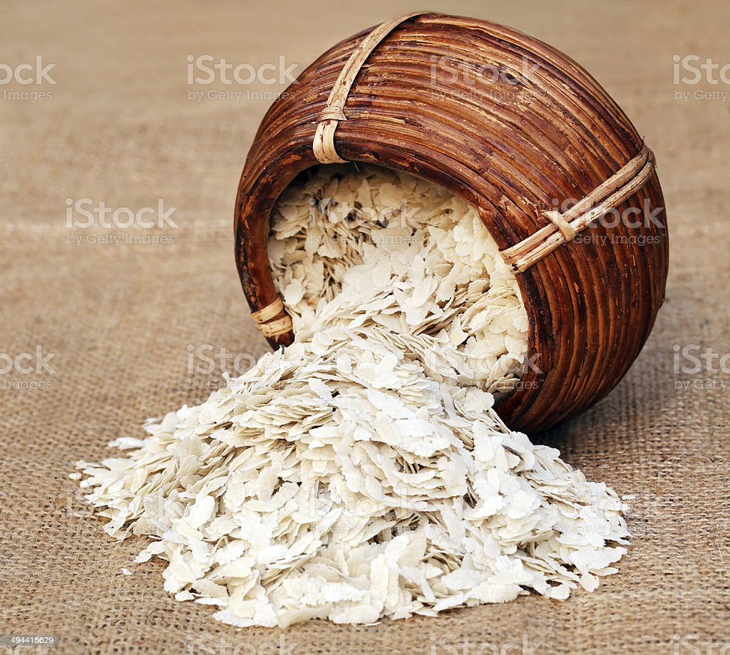 Flattened rice of South East Asia royalty-free stock photo