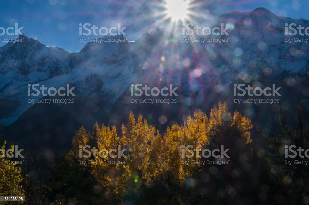 la flatiere,chamonix,haute savoie ,france royalty-free stock photo