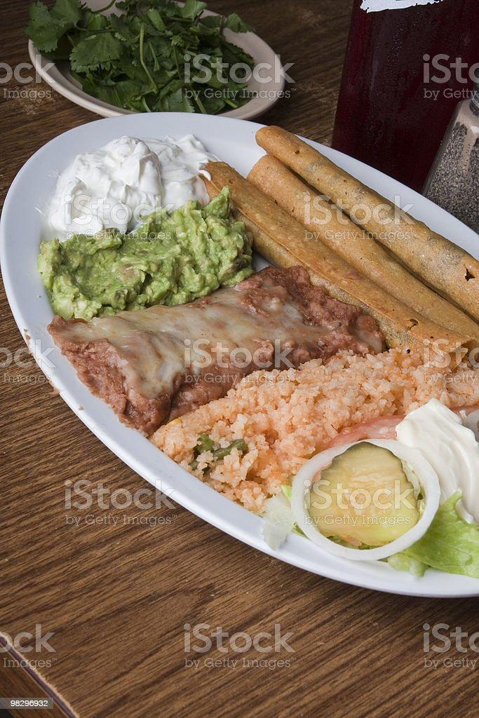 Flautas Meal royalty-free stock photo
