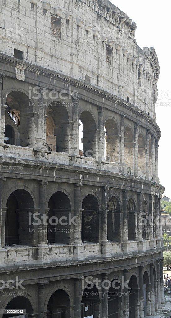 Flavian Amphitheatre Called the COLOSSEUM stock photo