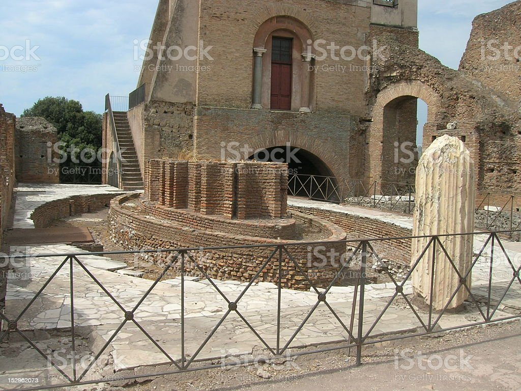 Flavian Nymphaeum royalty-free stock photo