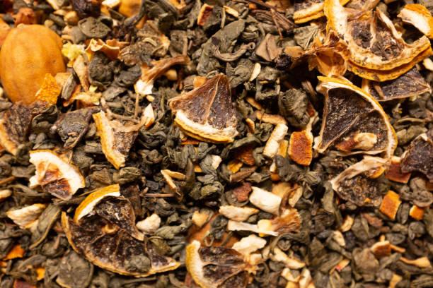 Geschmeckter grüner Tee – Foto