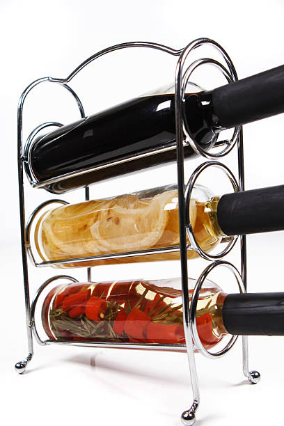flavoured oils and vinegars stock photo