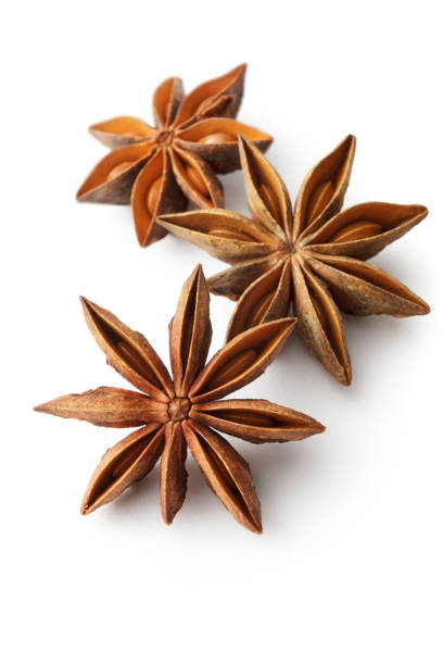 Flavouring: Anise Isolated on White Background Flavouring: Anise Isolated on White Background star anise on white stock pictures, royalty-free photos & images