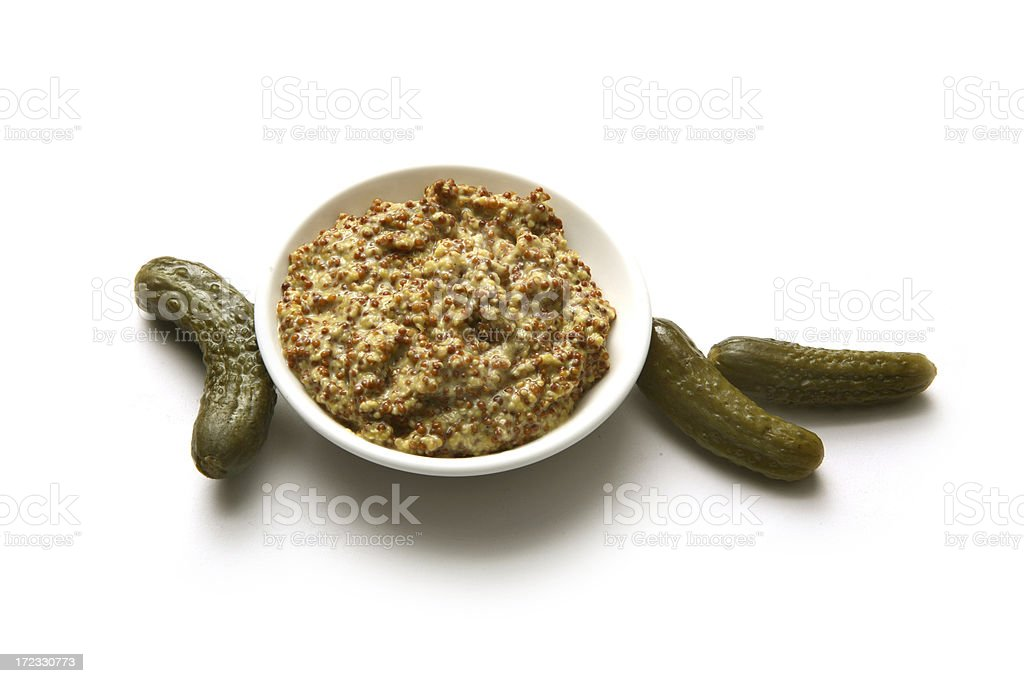Flavouring: Gherkins and Mustard royalty-free stock photo