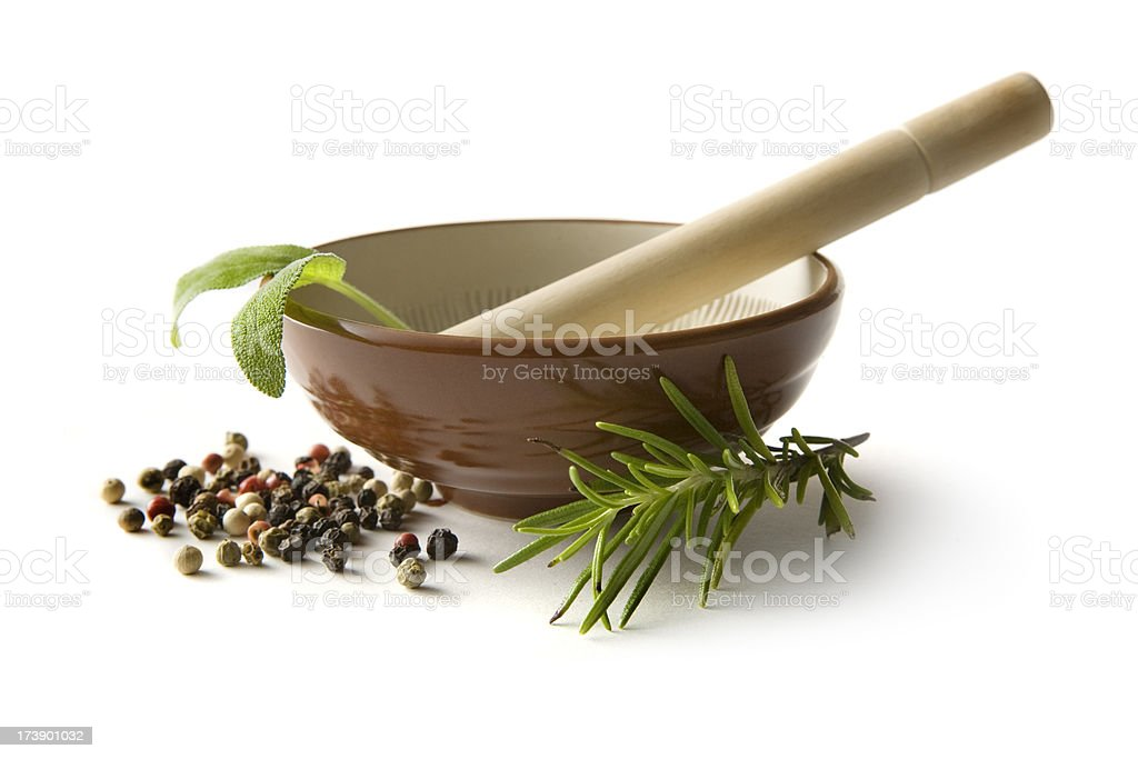 Flavouring: Mortar and Pestle royalty-free stock photo