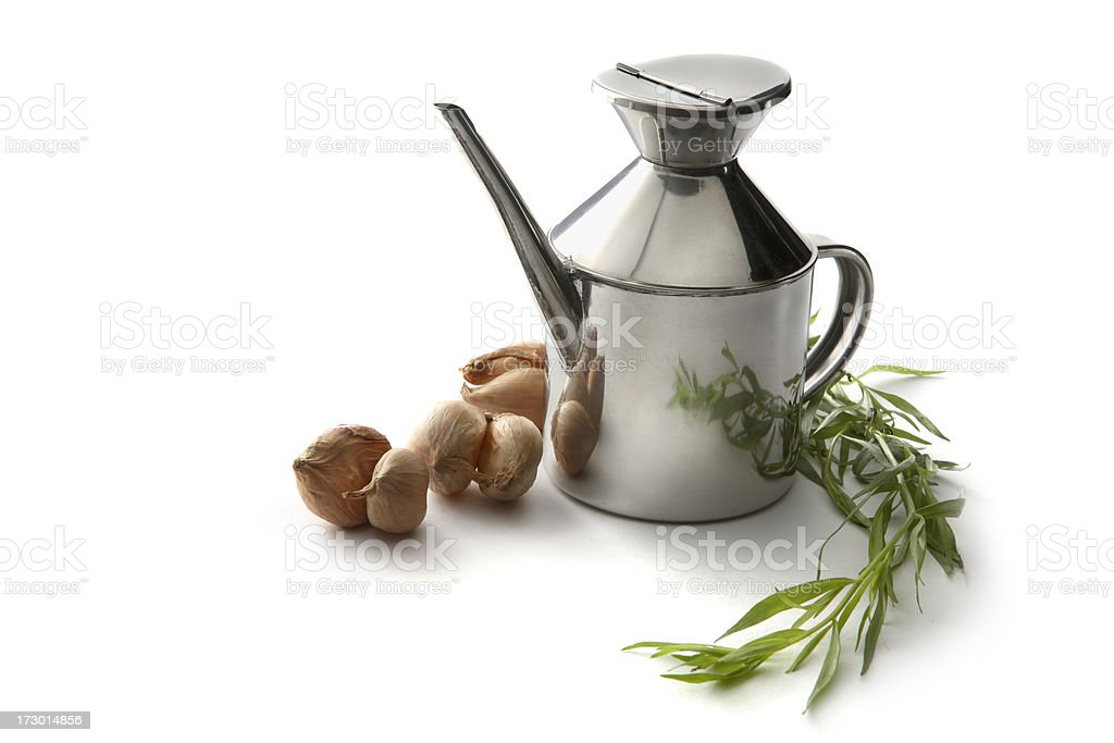 Flavouring: Oil, Tarragon and Chalots royalty-free stock photo