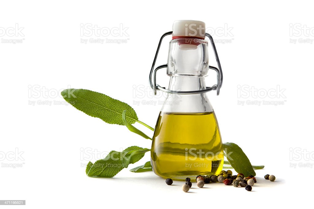 Flavouring: Olive Oil, Sage and Pepper stock photo