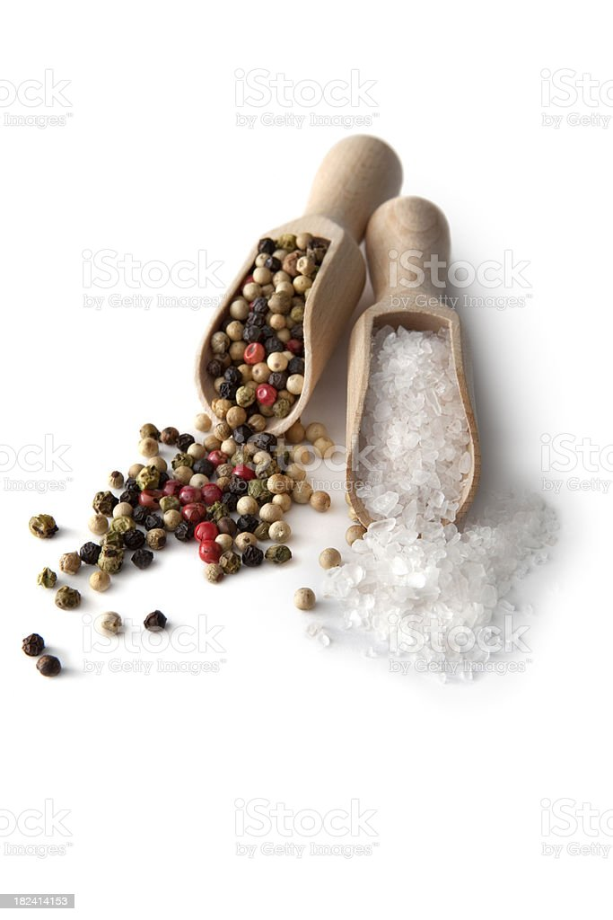 Flavouring: Salt and Pepper royalty-free stock photo