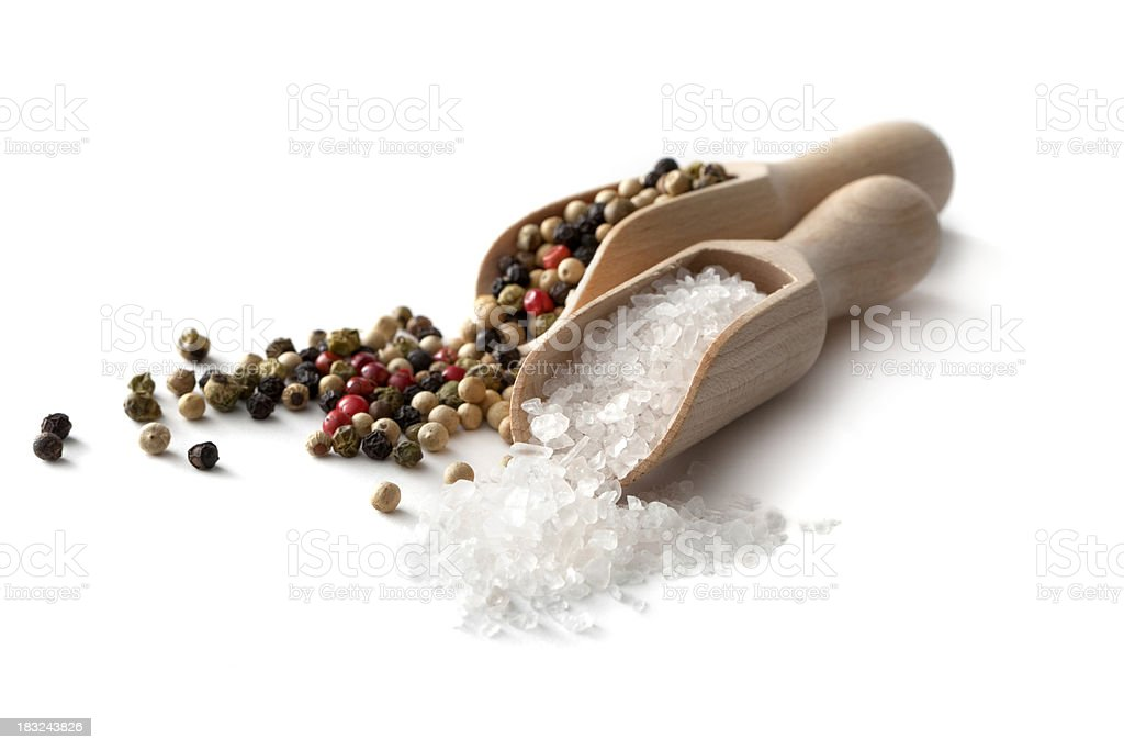 Flavouring: Salt and Pepper stock photo