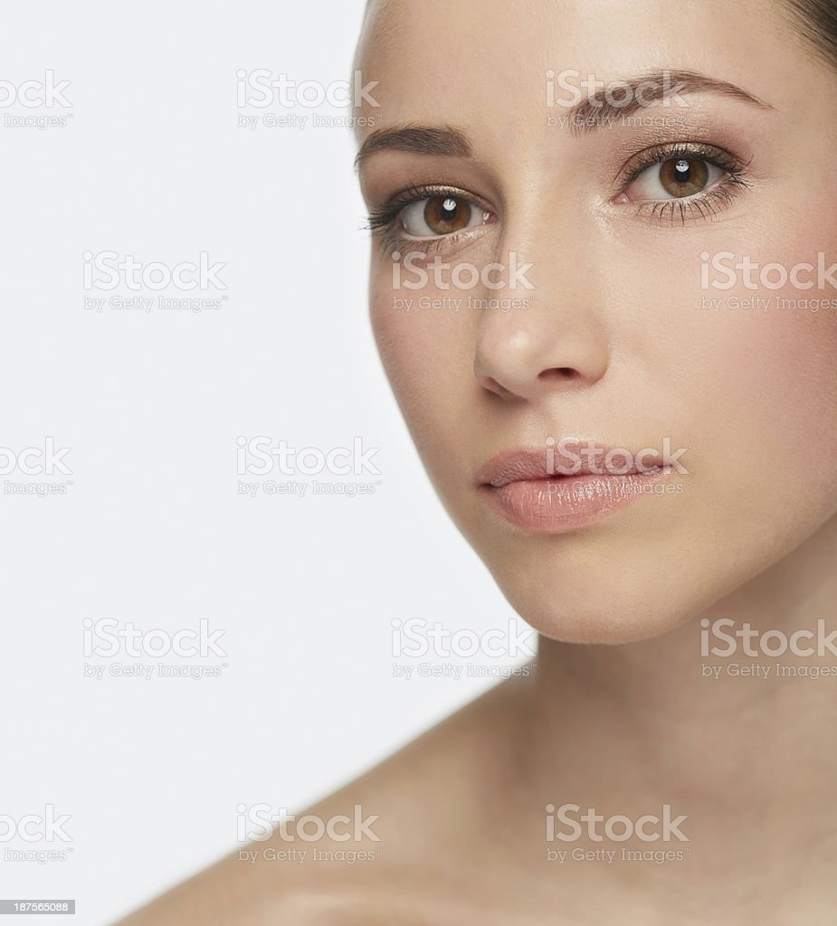 Flawless complexion on a stunning woman royalty-free stock photo