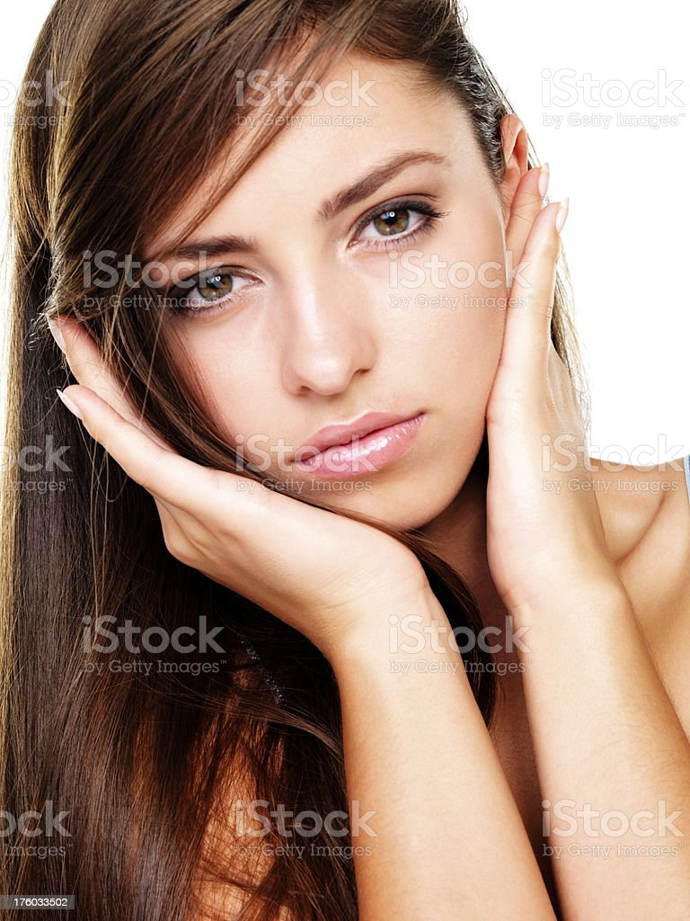 Flawless complexion worth framing - Skin Care stock photo