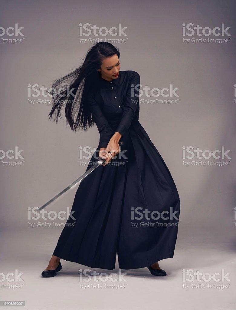 Flawless technique stock photo