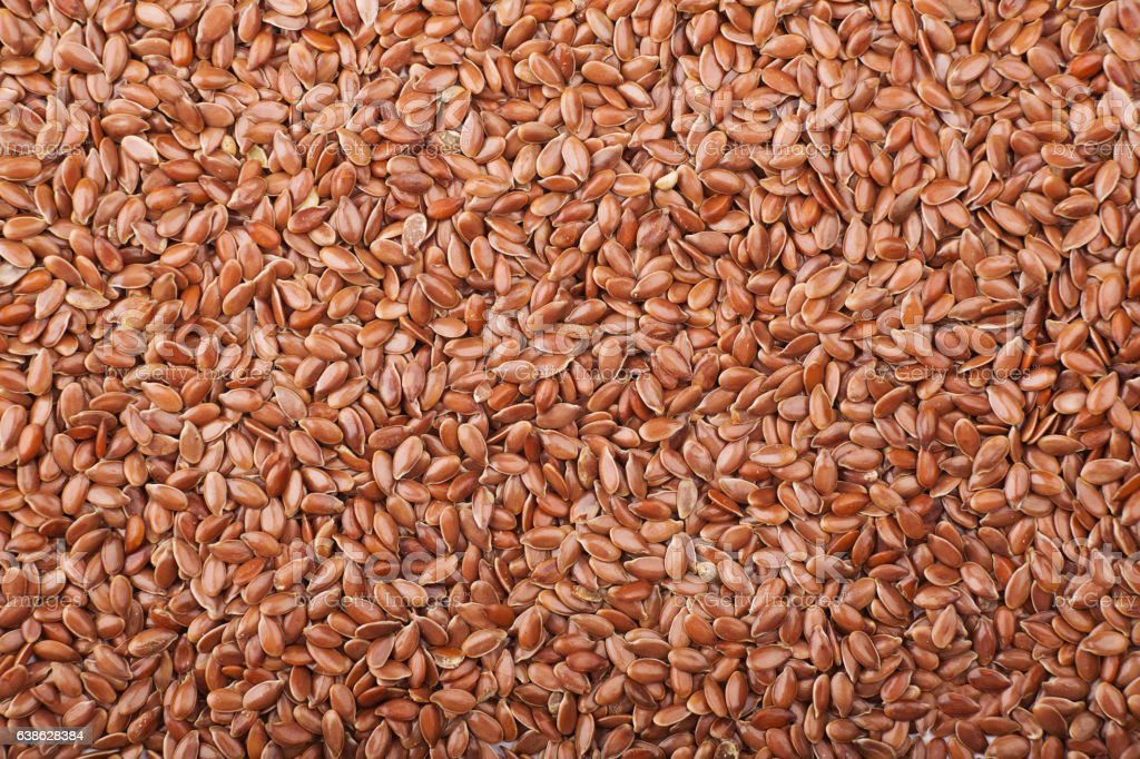 flax seed pile stock photo