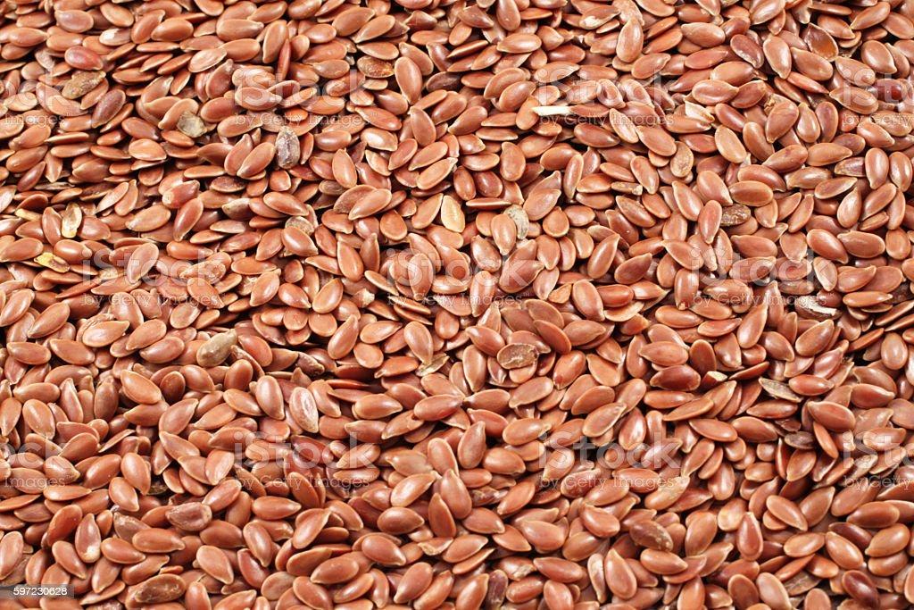 Flax Seeds Close Up stock photo