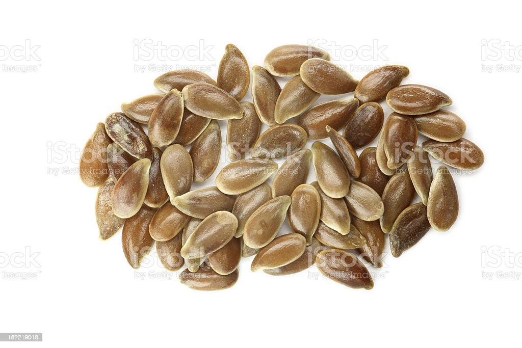 flaxseed isolated on white royalty-free stock photo