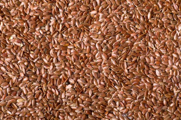 Flaxseeds Pattern stock photo