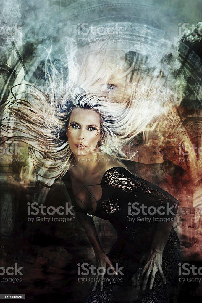 Flaying belleza de pelo - foto de stock