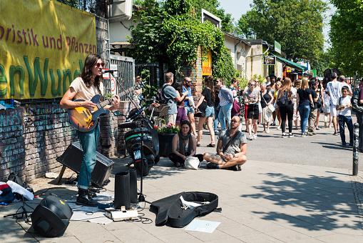 flea market at Mauerpark in Berlin, Germany