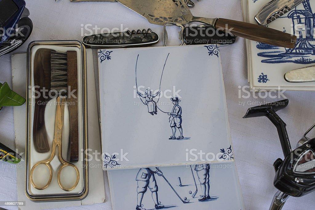 Mercado de pulgas de mercadorias - foto de acervo