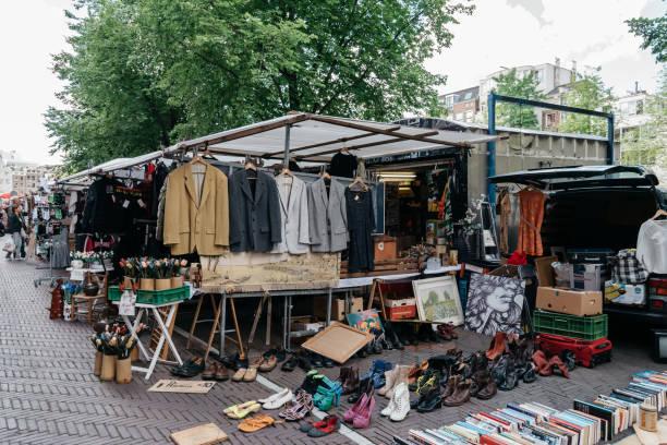 flohmarkt in amsterdam - günstig nach amsterdam stock-fotos und bilder