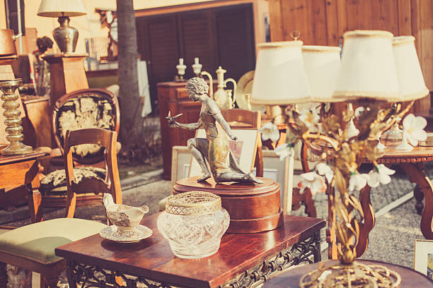 flea market in italy - antique stock pictures, royalty-free photos & images