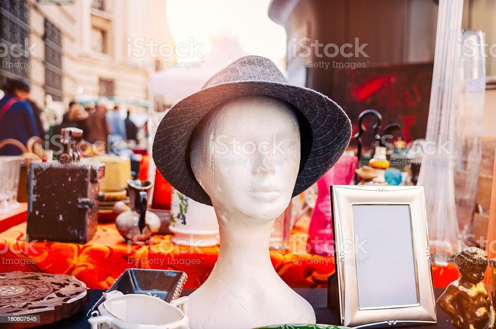 Flea market in Paris royalty-free stock photo